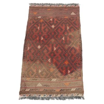 2'5 x 4'4 Handmade Mixed Technique Afghan Tribal Turkmen Accent Rug