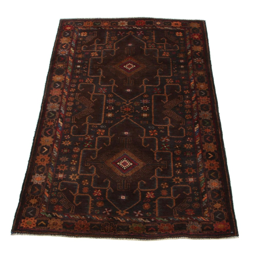 3'1 x 4'8 Hand-Knotted Persian Baluch Accent Rug, 2000s