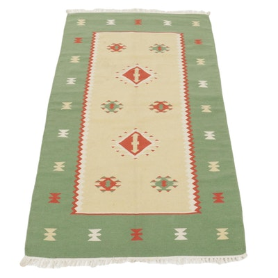 3'8 x 6'5 Handwoven Indian Kilim Area Rug