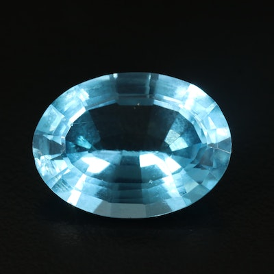 Loose 13.05 CT Oval Faceted Topaz