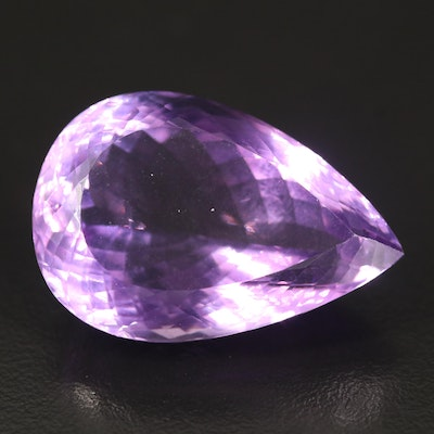 Loose 51.08 CT Pear Faceted Amethyst