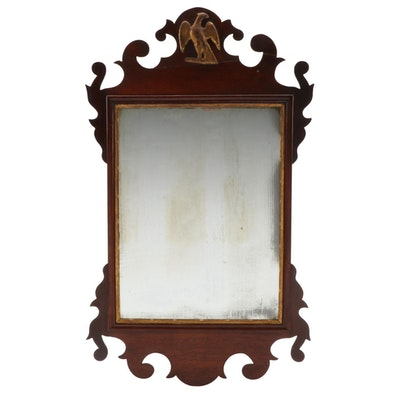 Chippendale Style Parcel-Gilt Mirror with Applied Eagle
