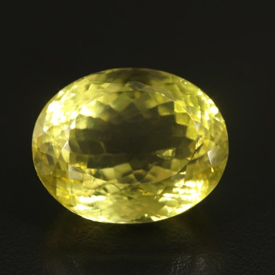 Loose 35.61 CT Oval Faceted Citrine