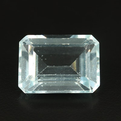 Loose Rectangular Faceted Glass