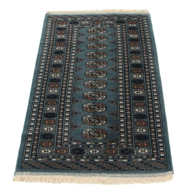 2'8 x 4'8 Hand-Knotted Pakistani Bokhara Accent Rug, 2000s