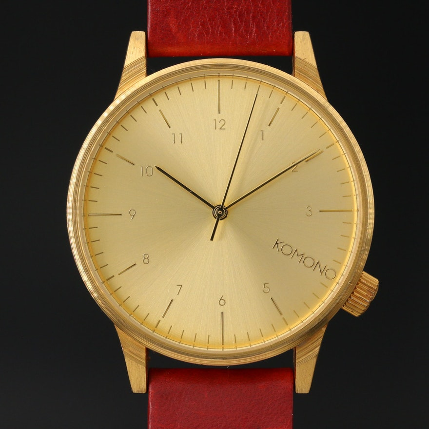 Large Komono 42 mm Quartz Wristwatch