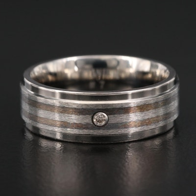 Titanium Diamond Band