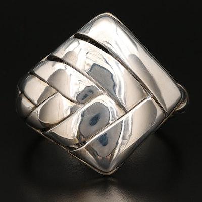 John Hardy Sterling Silver Basket Weave Cuff