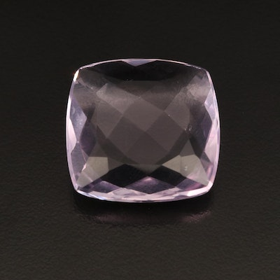 Loose 35.14 CT Square Cushion Faceted Amethyst