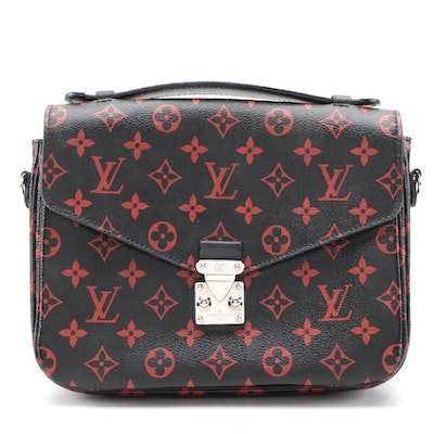 Louis Vuitton Limited Edition Infrarouge Monogram Pochette Métis Bag