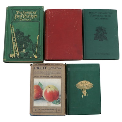 Agriculture and Fruit Tree Cultivation Books, Late 19th/Early 20th Century