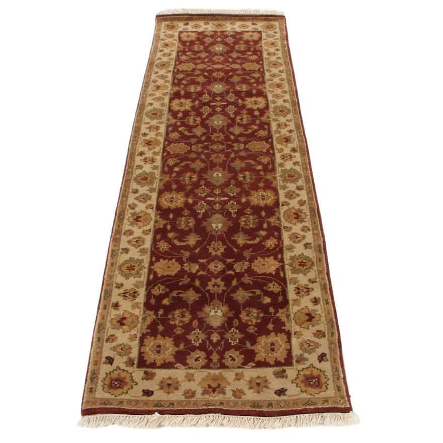 2'6 x 8'3 Hand-Knotted Indo-Persian Tabriz Carpet Runner, 2000s
