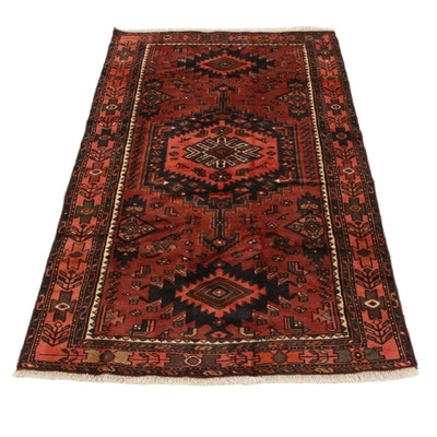 4'1 x 6'11 Hand-Knotted Persian Malayer Area Rug, 1980s