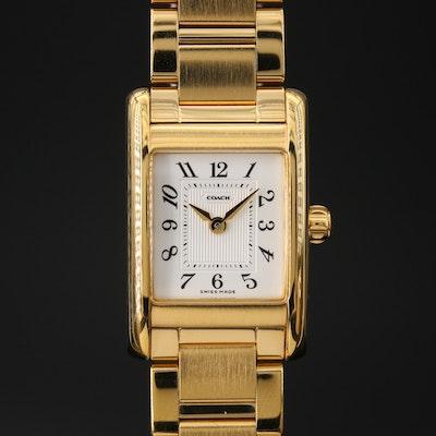 Coach Lexington Gold Tone Quartz Wristwatch