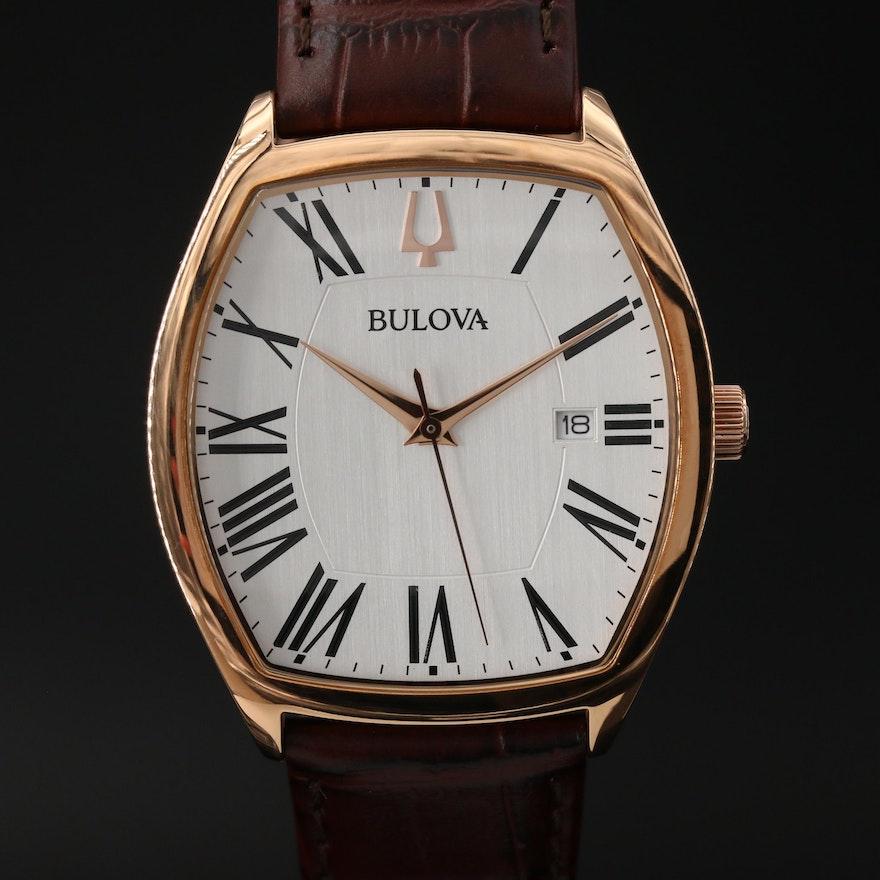 Bulova Ambassador Rose Gold Tone Quartz Wristwatch