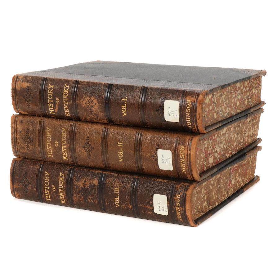 """A History of Kentucky and Kentuckians"" Three-Volume Set by E. Polk Johnson"