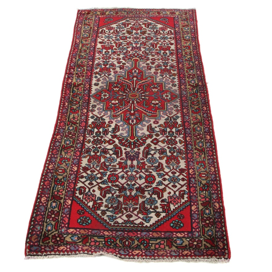 2'10 x 6'2 Hand-Knotted Persian Malayer Carpet Runner, 1930s