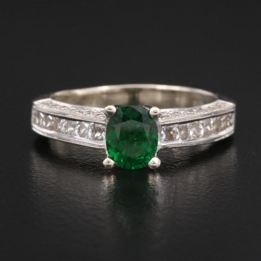 Natalie K 14K Tsavorite Garnet and Diamond Ring