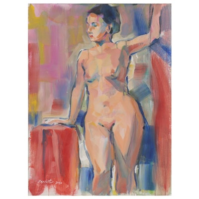 Raymond Zaplatar Figural Acrylic Painting, 2020