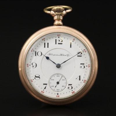 1907 Hampden Watch Co.Gold Filled Pocket Watch