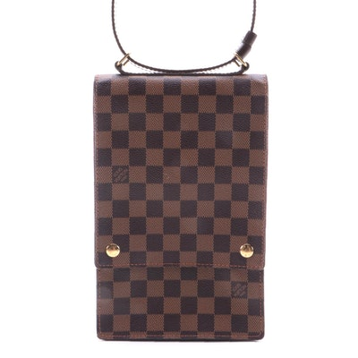 Louis Vuitton Portobello Messenger in Damier Ebene Canvas