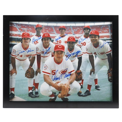 "Cincinnati Reds Signed ""The Elite Eight"" World Champions Framed Photo Print, CEI"
