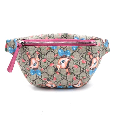 Gucci Children's Supreme Fawn GG Canvas Zipper Belt Bag