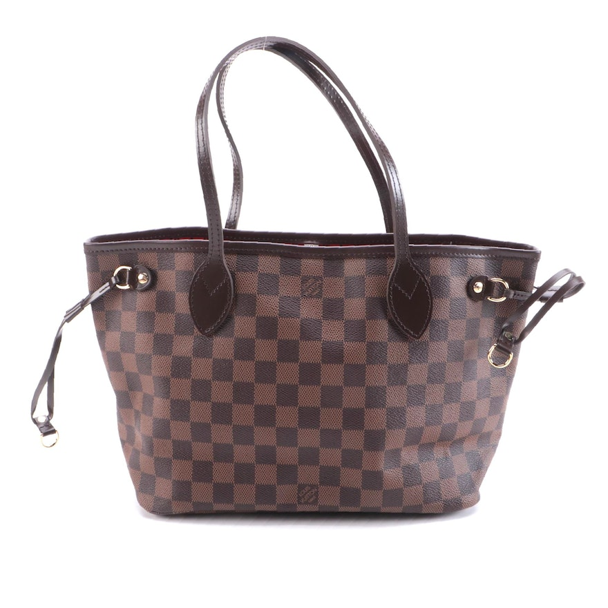 Louis Vuitton Neverfull Tote PM in Damier Ebene Canvas