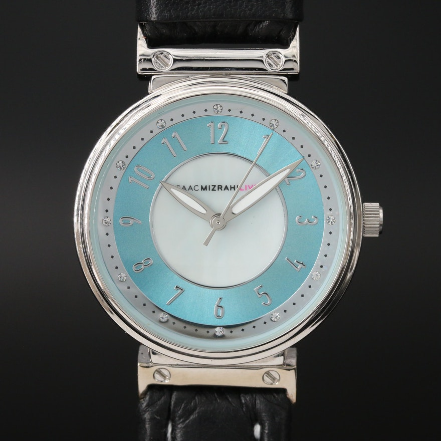 ISAACMIZRAHILIVE! Stainless Steel and Base  Quartz Wristwatch