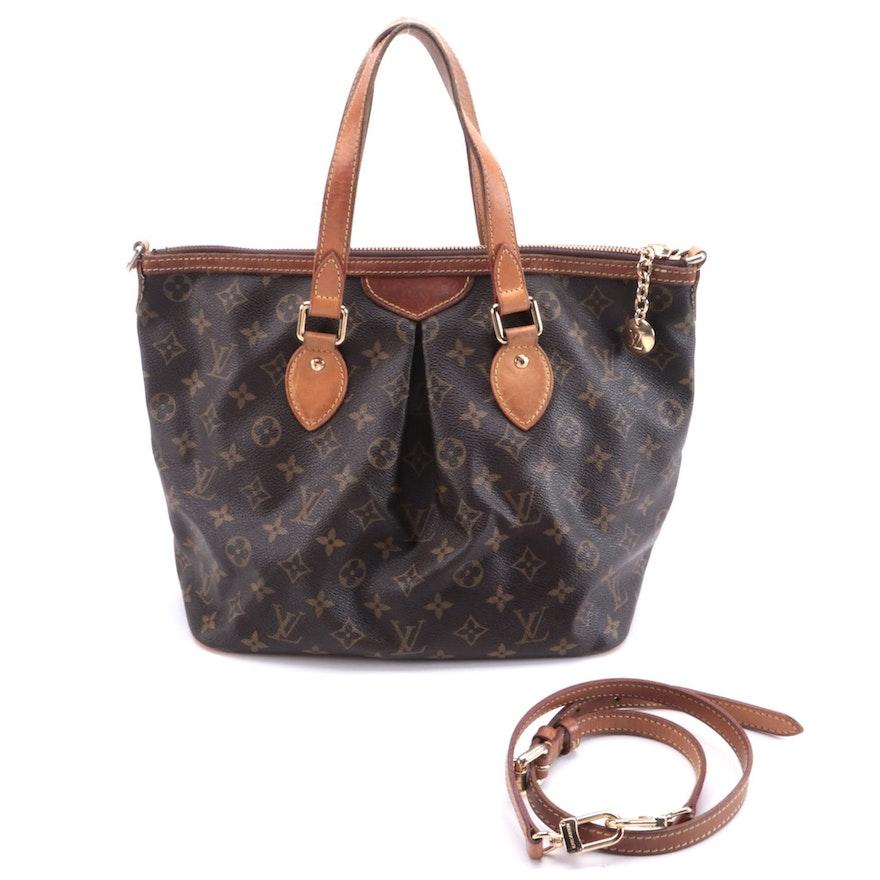 Louis Vuitton Palermo Handbag in Monogram Canvas with Detachable Strap