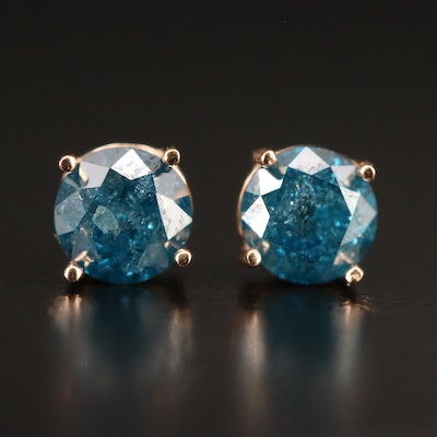14K 0.95 CTW Diamond Stud Earrings