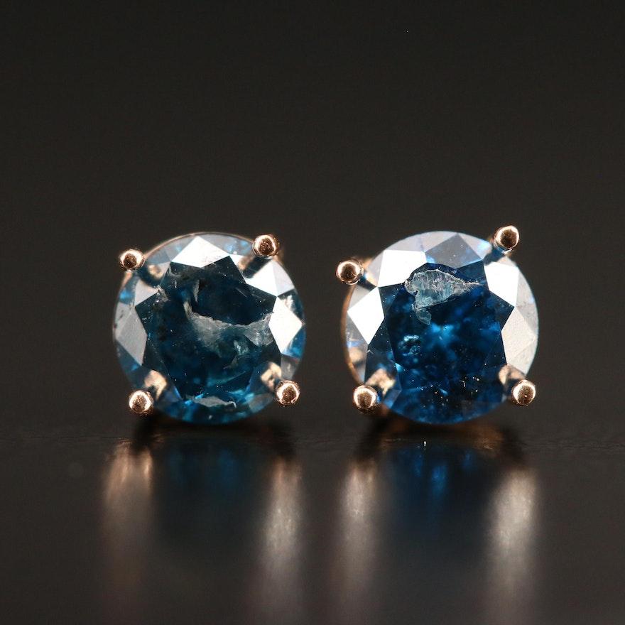 14K 0.90 CTW Diamond Stud Earrings