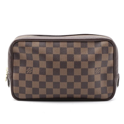 Louis Vuitton Trousse Toilette in Damier Coated Canvas