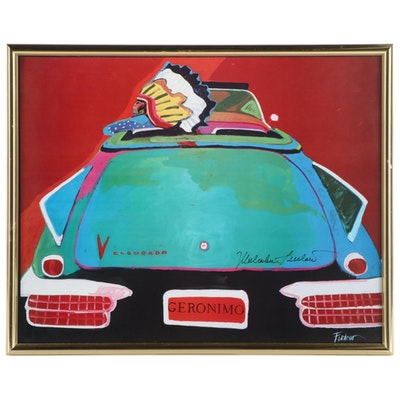 "Malcolm Furlow Giclée of Native American Driving Convertible ""Geronimo"""