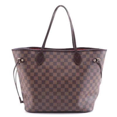 Louis Vuitton Neverfull NM Tote in Damier Ebene Canvas