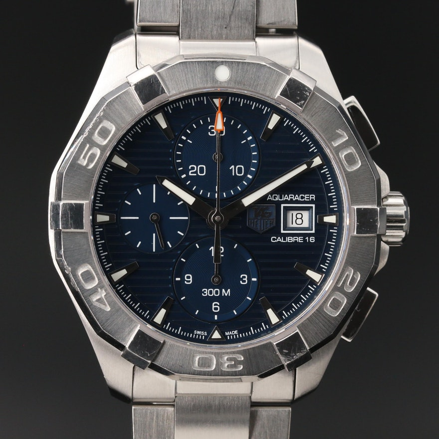 """TAG Heuer """"Aquaracer 300M"""" Calibre 16 Stainless Steel Automatic Wristwatch"""