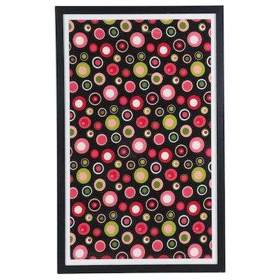 1960s-Style Dot Pattern Fabric Print, 21st Century