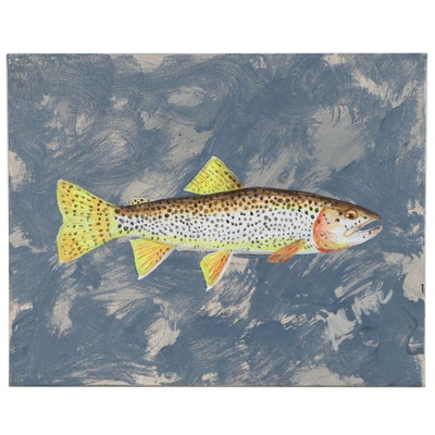 "George McElveen Acrylic Painting ""Coastal Cutthroat,"" 2020"