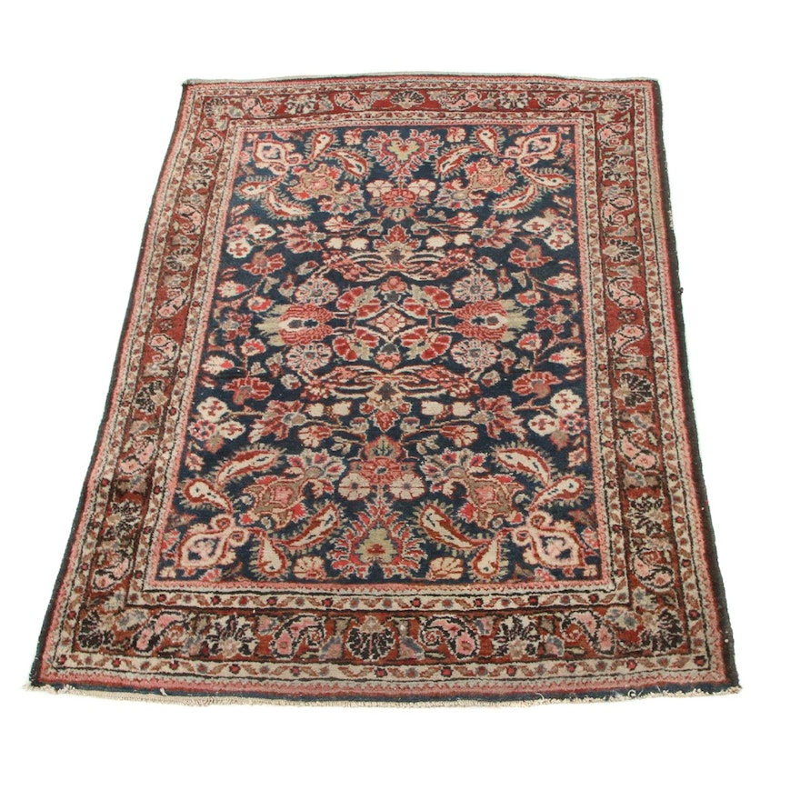3'5 x 4'9 Hand-Knotted Persian Malayer Area Rug, 1920s