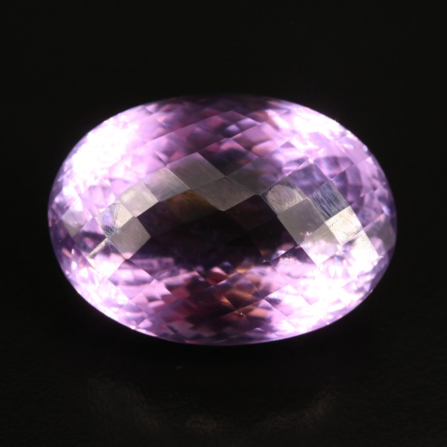 Loose 52.98 CT Oval Faceted Amethyst