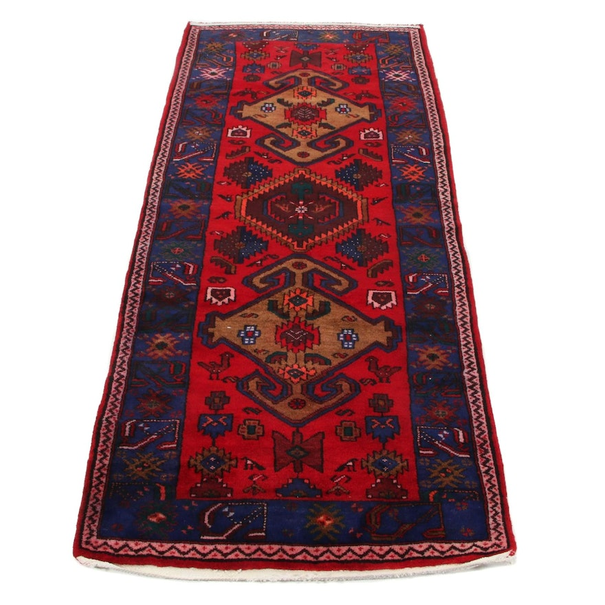 3'7 x 8'5 Hand-Knotted Northwest Persian Long Rug, 1960s