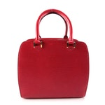 Louis Vuitton Pont Neuf PM Bag in Castilian Red Epi and Smooth Leather