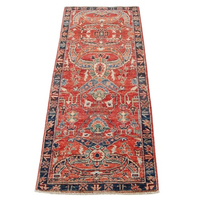 2'1 x 5'2 Hand-Knotted Afghan Persian Tabriz Accent Rug, 2010s