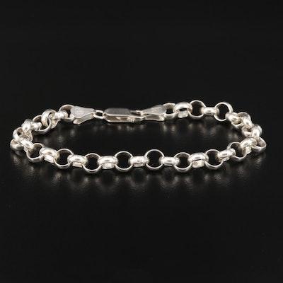Sterling Silver Rolo Chain Link Bracelet