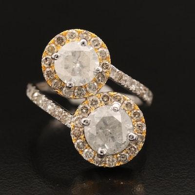 18K 4.02 CTW Diamond Bypass Ring