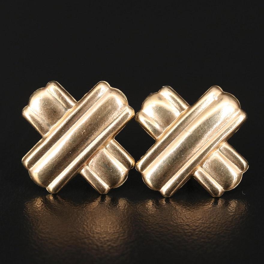 """14K """"X"""" Earrings"""
