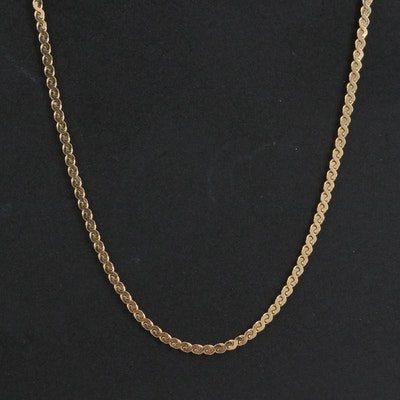14K Serpentine Link Chain Necklace