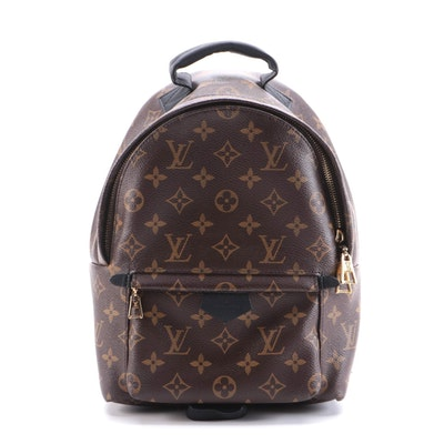 Louis Vuitton Palm Springs PM Backpack in Monogram Canvas and Black Leather Trim