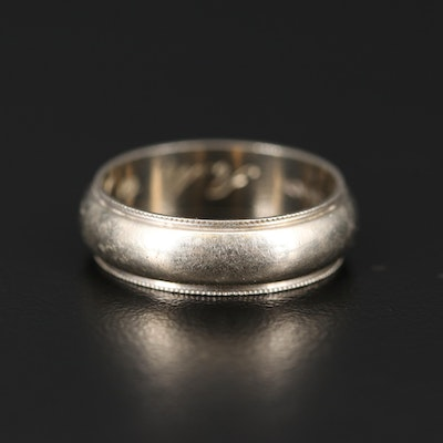 14K Band with Milgrain Edge Detailing
