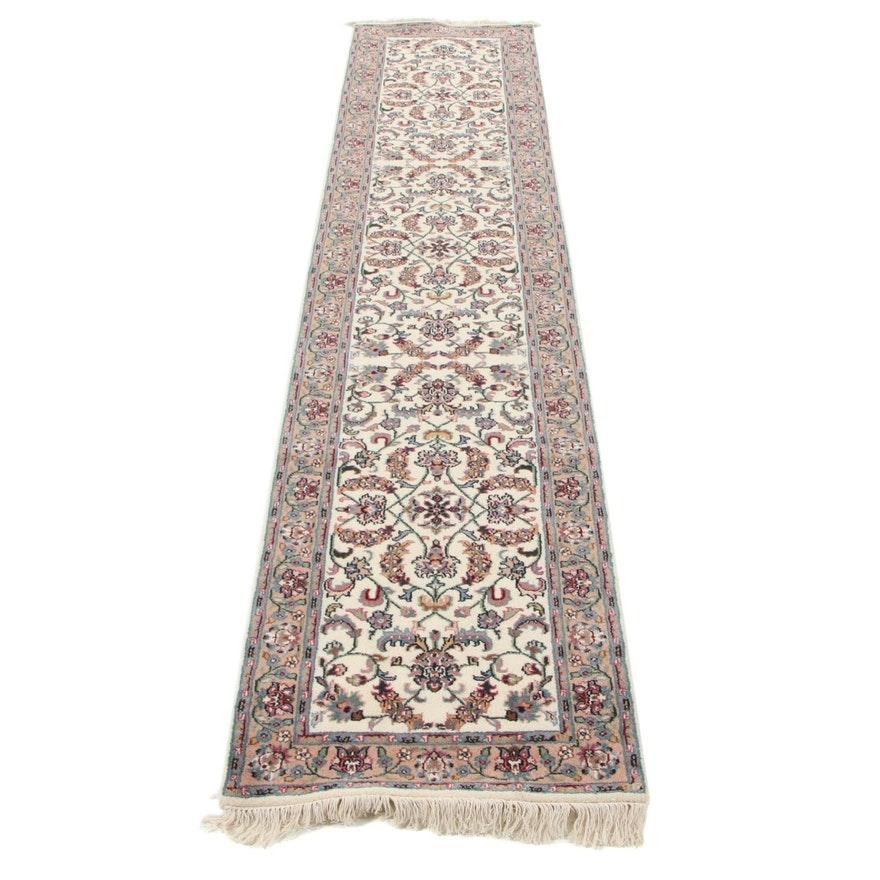 2'6 x 12'4 Hand-Knotted Indo-Persian Tabriz Carpet Runner, 2000s